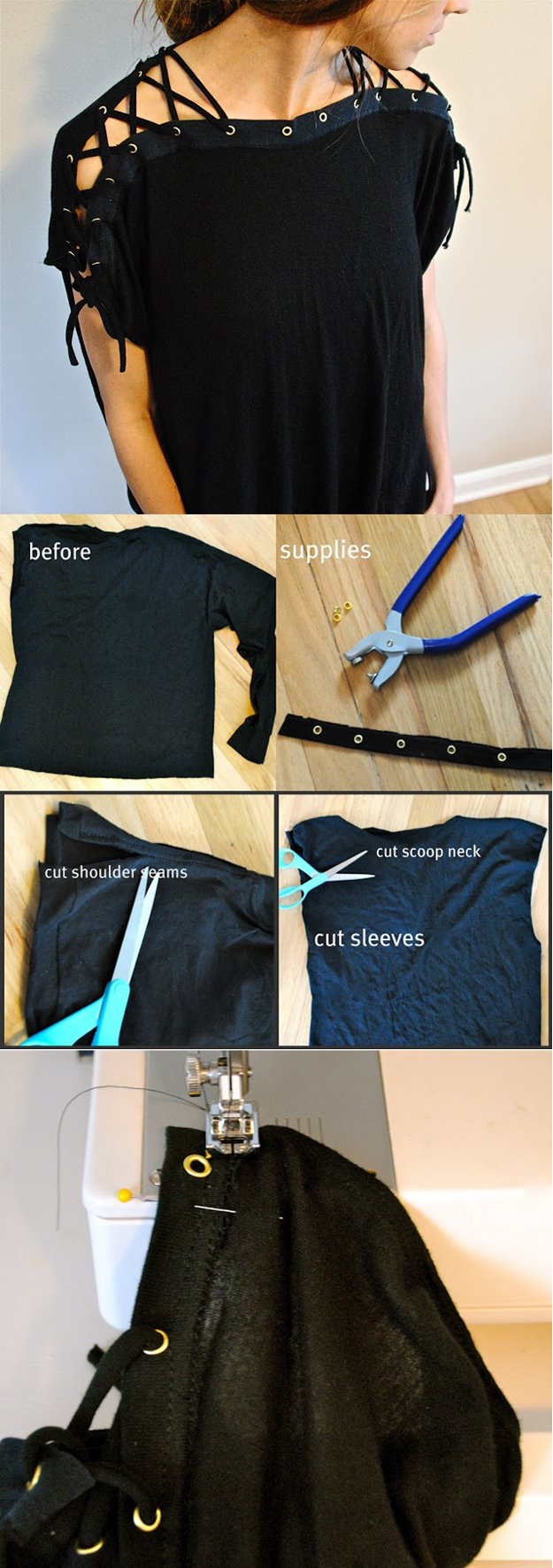 Hot Top Design Tutorial | diyready.com/diy-clothes-sewing-blouses-tutorial/