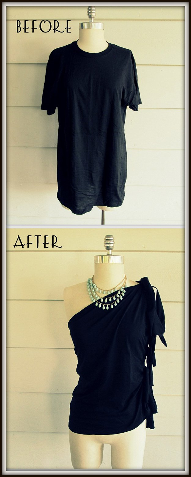 Easy DIY No Sew Top Project for Teens diyready.com/diy-clothes-sewing-blouses-tutorial/