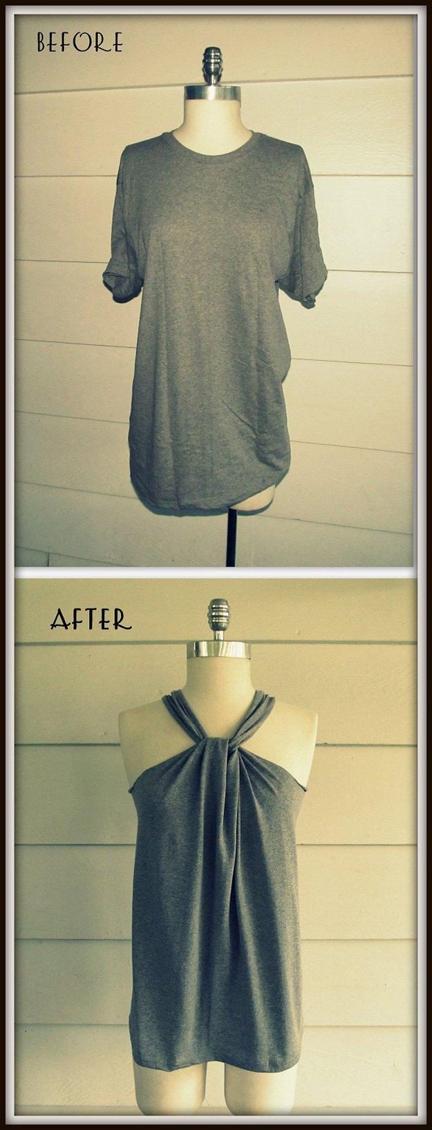 Easy Haltered DIY Top Design | diyready.com/diy-clothes-sewing-blouses-tutorial/