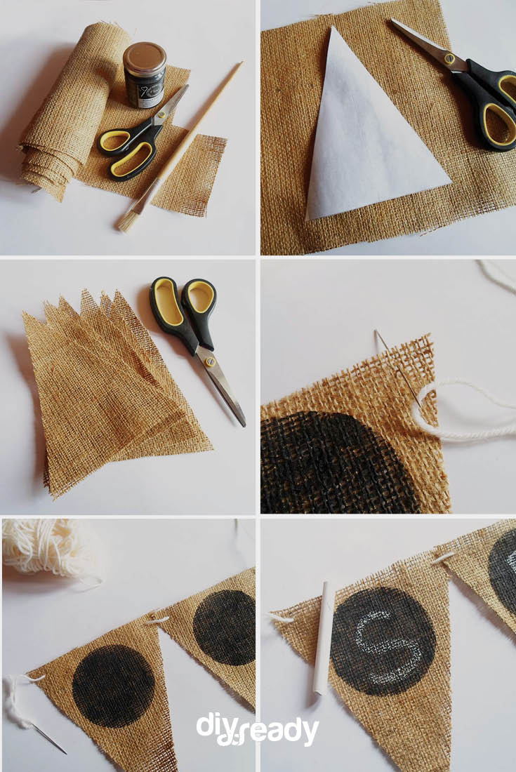 DIY Country Wedding Crafts Ideas Burlap Bunting
