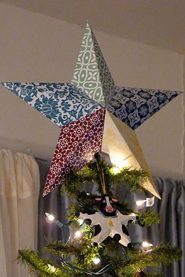 15 DIY Christmas Tree Topper Ideas DIY Ready