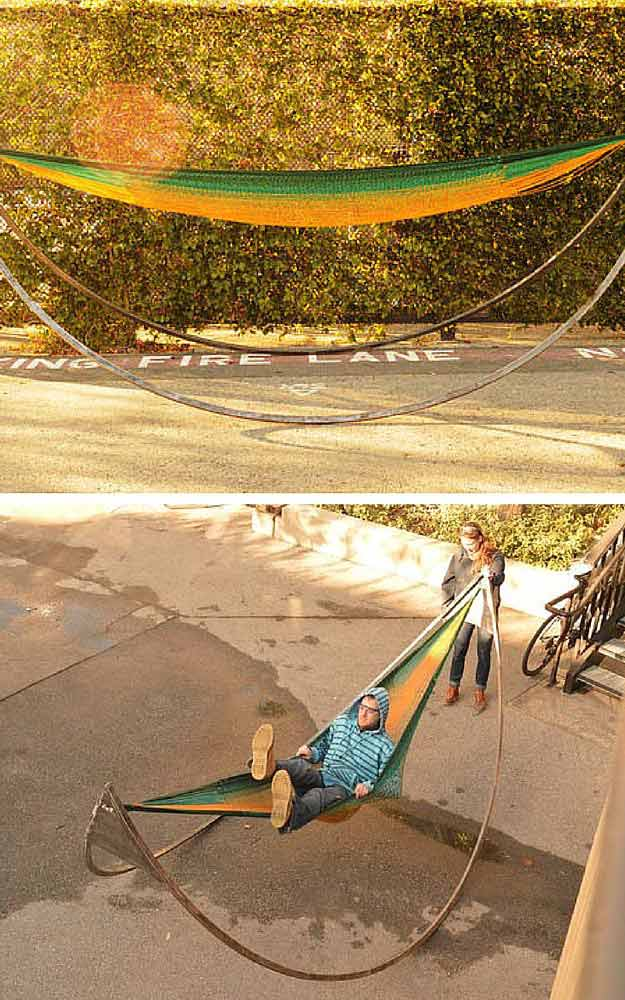 hammock chair stand diy stacking rolling chairs | tutorials