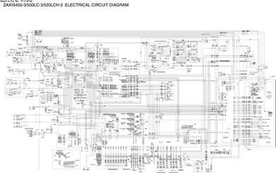 Wiring Diagrams Manual for Hitachi Zaxis-3 Series model