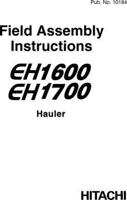 Assembly Manuals for Hitachi Eh Series model Eh1600