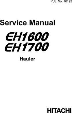Service Manuals for Hitachi Eh Series model Eh1600