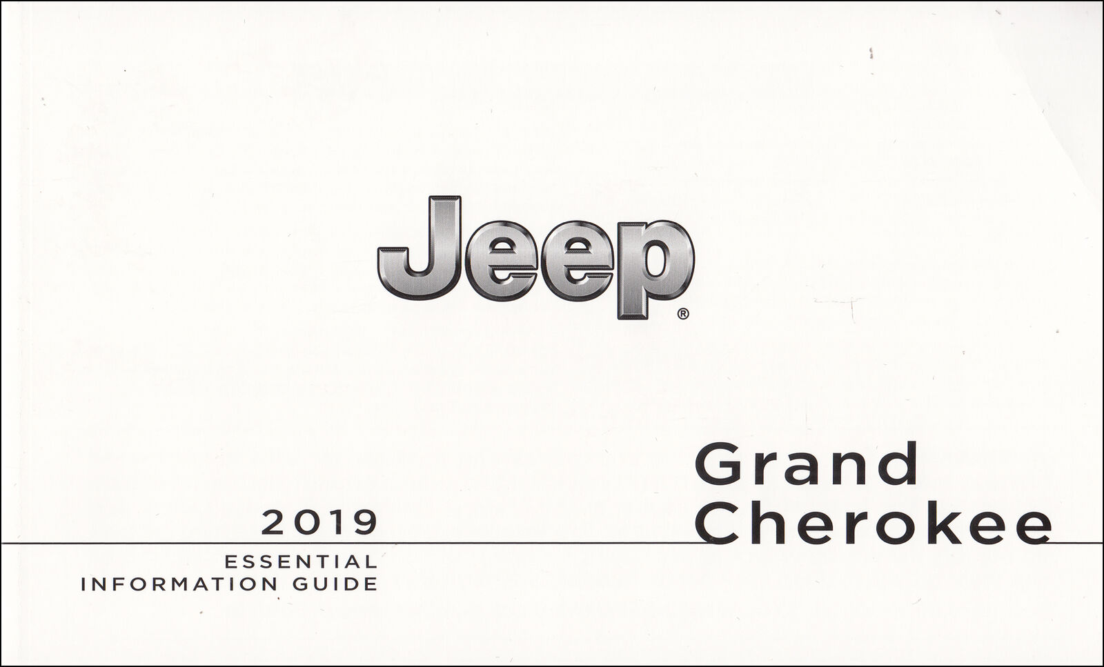 2019 Jeep Grand Cherokee Owner's Manual