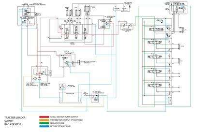 Schematic Posters for Case Loader backhoes model 570NXT