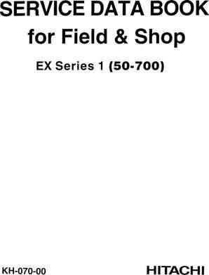 Service Repair Data Manual for Hitachi Ex Series model