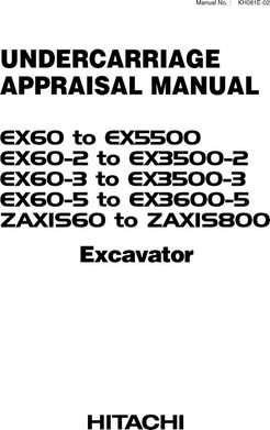 Service Repair Manuals for Hitachi Ex-5 Series model Ex60