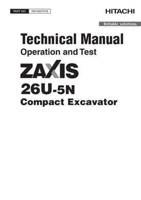 Test Service Repair Manuals for Hitachi Zaxis-5 Series