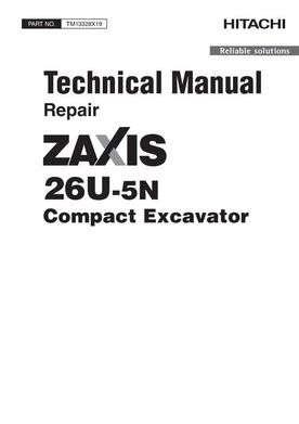Service Repair Manuals for Hitachi Zaxis-5 Series model