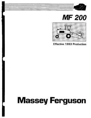 Massey Ferguson 200 Swather, Effective 1993, Service