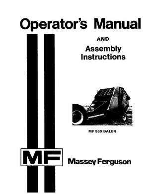 Massey Ferguson 1448347M3 Operator Manual
