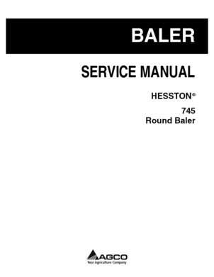 Hesston 79033774A Service Manual
