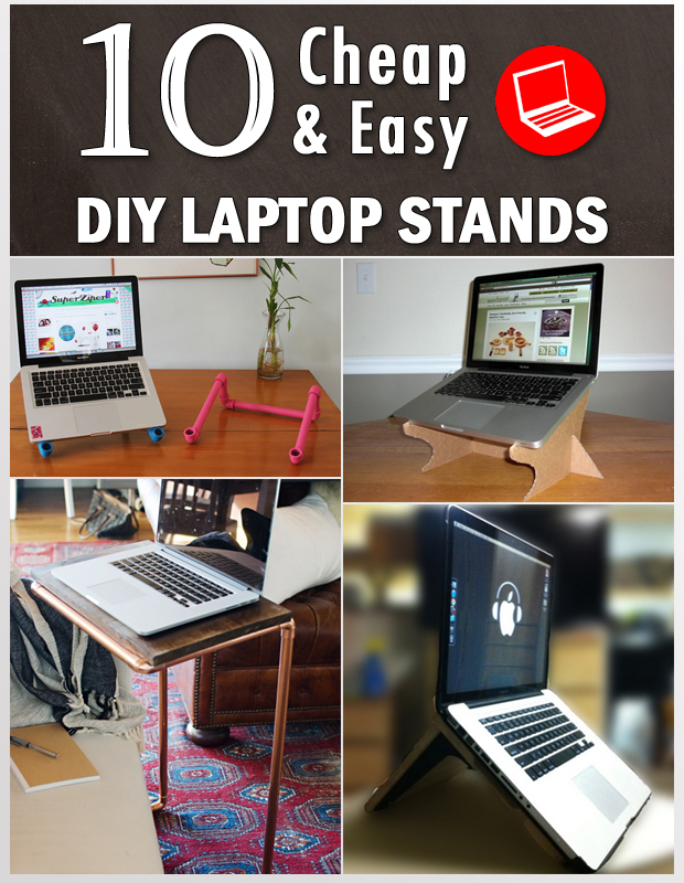 10 Cheap  Easy DIY Laptop Stands