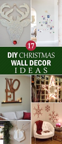 17 Creative DIY Christmas Wall Decor Ideas