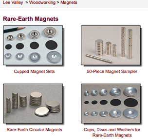 Lee Valley Tools Rare Earth Magnets