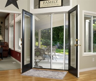Double Panel Standard Economy Retractable Screen Door Kit