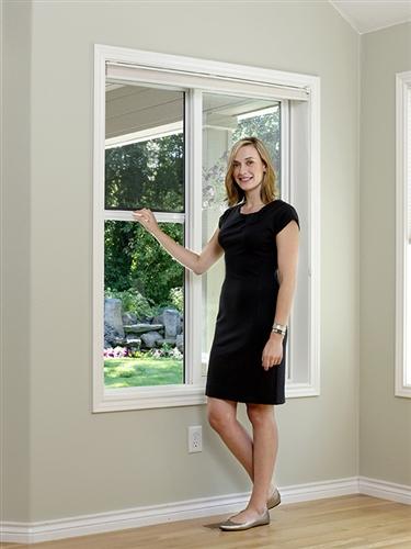 Custom Retractable Window Screen - Extra Tall