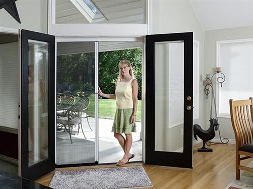 Pleated Single Panel Retractable Door Kit & Genius Sheer Screen Advance Retractable Screen Door