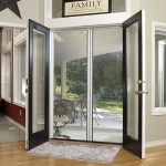 Genius Double Panel Brownstone Standard Size Retractable Screen Door Kit