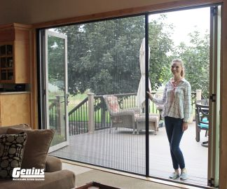 Pleated Custom Screen for Large Openings