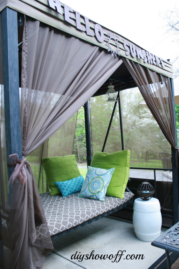Patio Swing Makeoverdiy Show Off Diy Decorating And