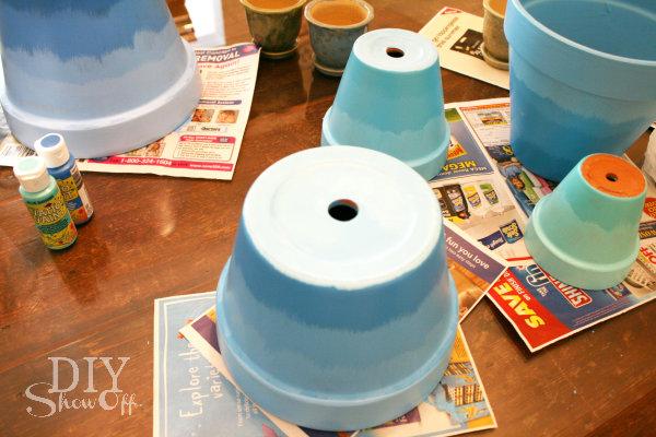 painting terracotta flower pots