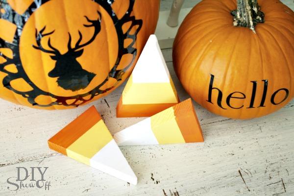 DIY vinyl pumpkin decals