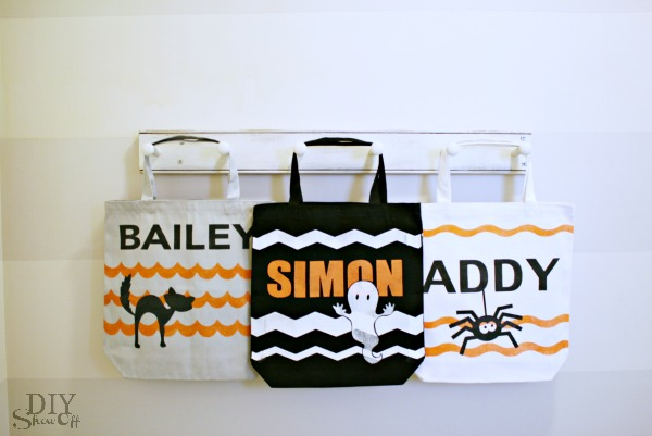 DIY personalized trick or treat bags