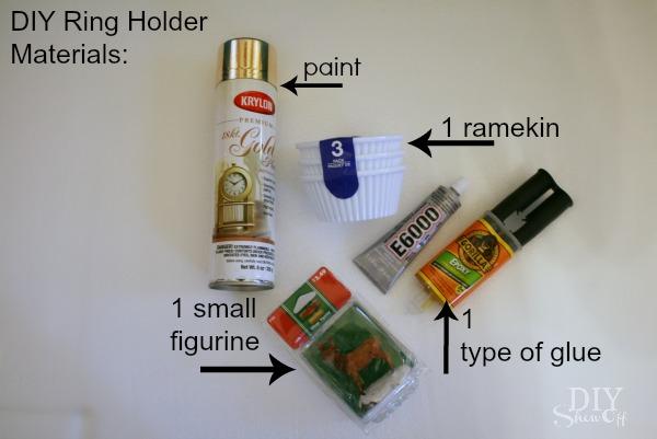 DIY Ring Holder Tutorial Materials