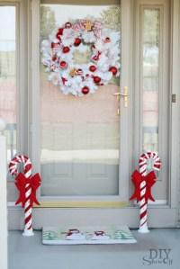 Lighted PVC Candy Canes DIY Christmas Home Decor - DIY ...