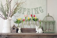 Spring Mantel Decorating - DIY Show Off  - DIY Decorating ...