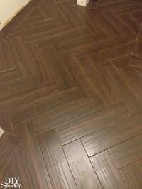 Laundry Room Herringbone Pattern Tile Floor Details - DIY ...