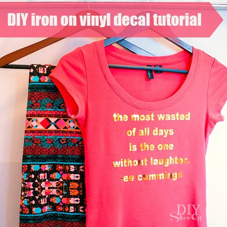 DIY Vinyl Iron on DecalDIY Show Off   DIY Decorating and