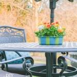 Patio Umbrella Table Planter Centerpiecediy Show Off Diy Decorating And Home Improvement Blog