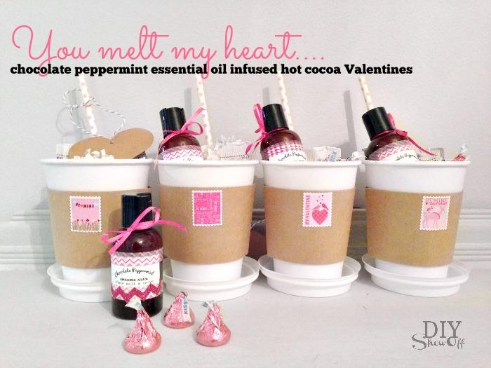 Chocolate Peppermint Hot Cocoa Teacher Valentine DIY