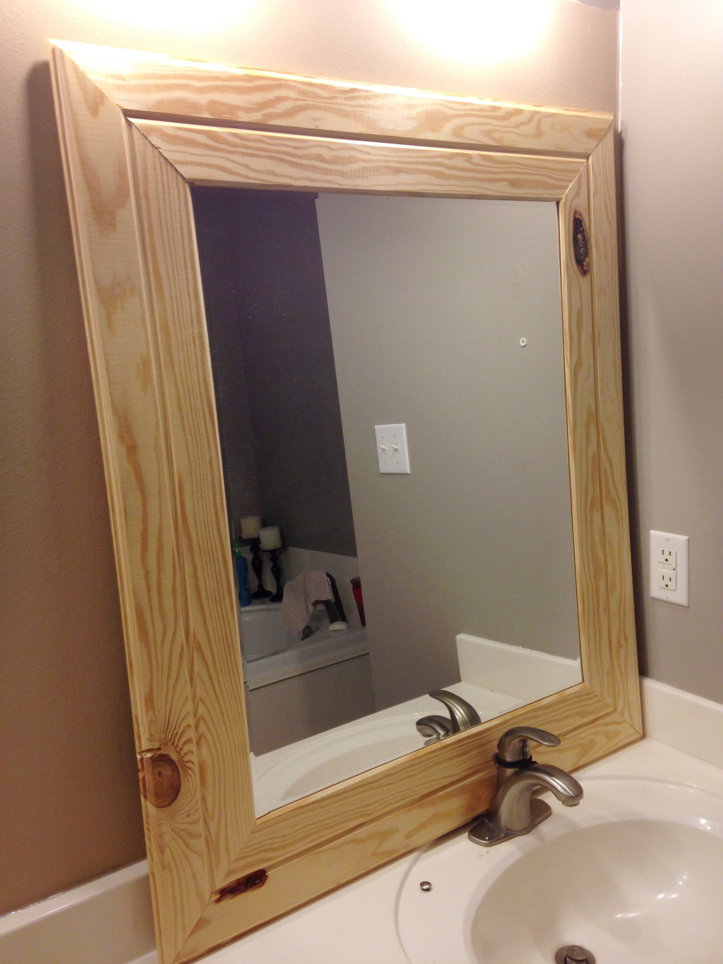 DIY Easy Framed Mirrors  DIYstinctly Made