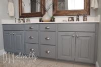 Painted Bathroom Cabinets  DIYstinctly Made
