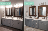 Painted Bathroom Cabinets | DIYstinctly Made