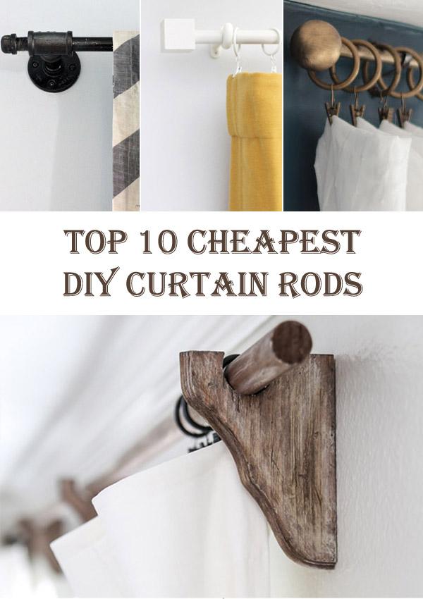 Top 10 Cheapest DIY Curtain Rods  Diys To Do