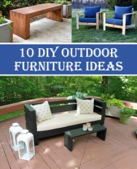 10 Insanely Cool DIY Outdoor Furniture Ideas  Diys To Do