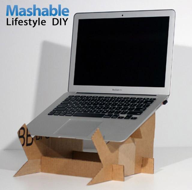 DIY Karton Dizüstü Bilgisayar Standı