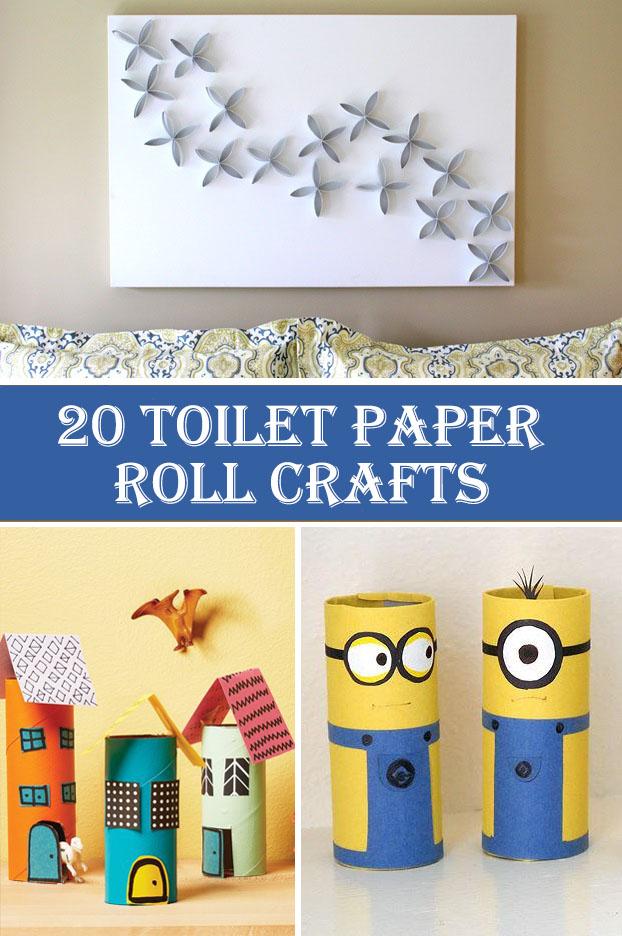 20 Tuvalet Kağıdı Rulo El Sanatları