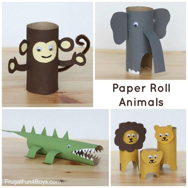 DIY Kağıt Rulo Hayvanlar