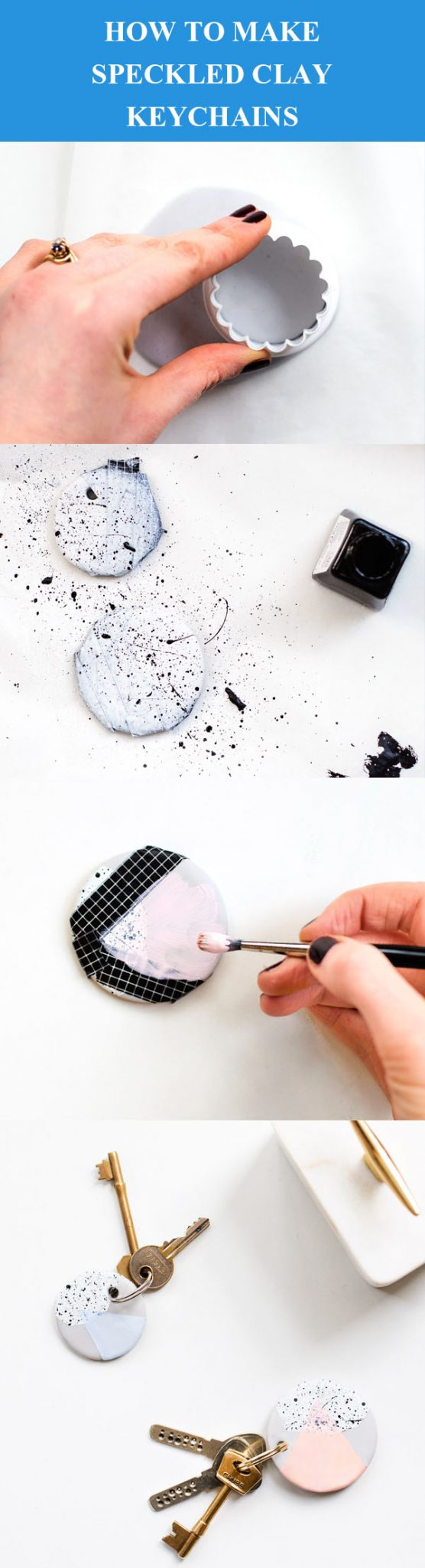 DIY Benekli Kil Anahtarlıklar
