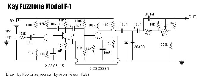 Revised Kay Fuzz Tone schematic