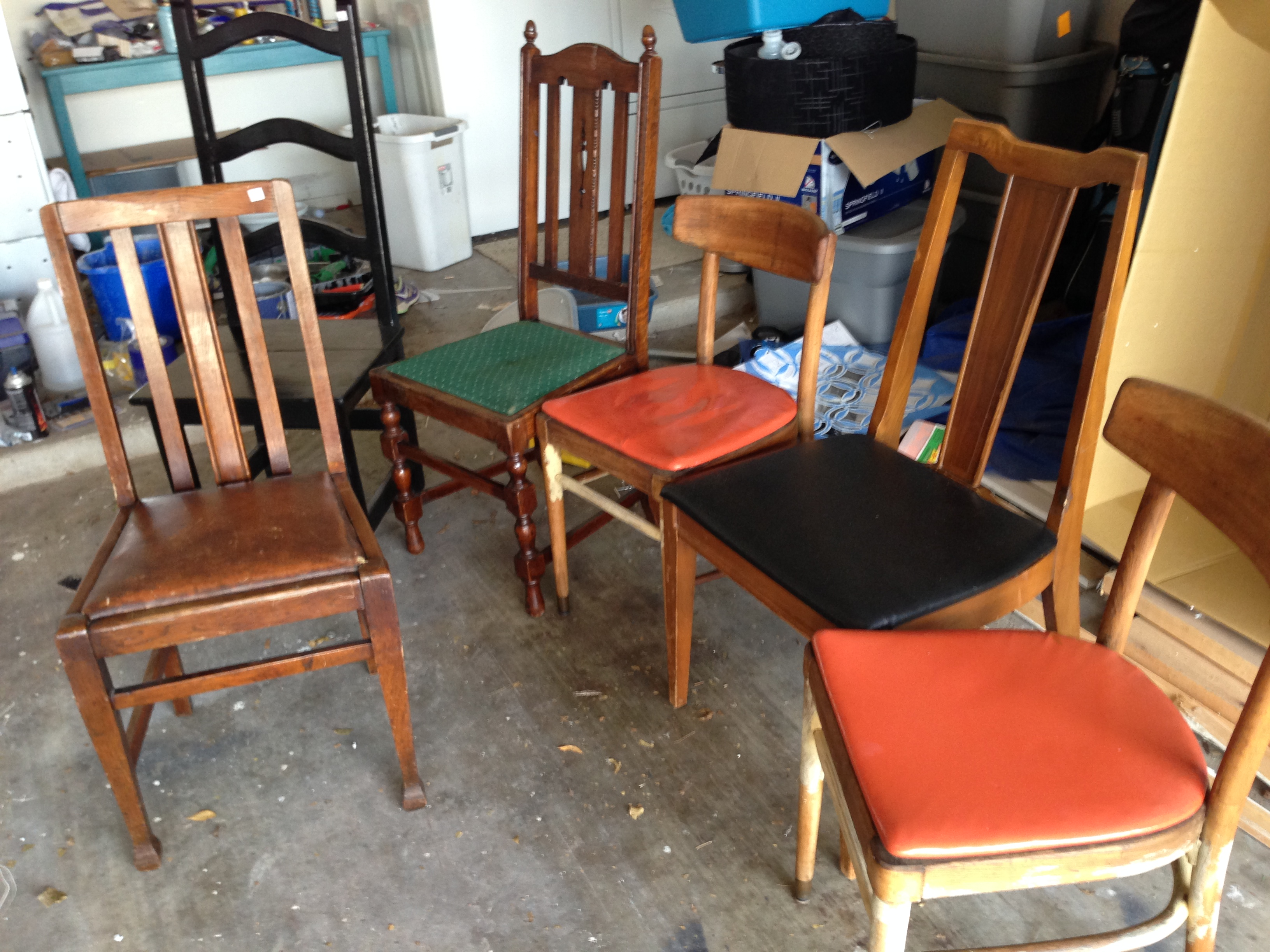 mismatched dining chairs wood rocking chair singapore room my crazy diy adventures