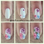 easy rose nail art tutorial diy