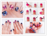 Diy Galaxy Nails Tutorial | www.imgkid.com - The Image Kid ...